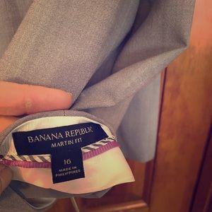 Banana republic wool blend trousers, gray